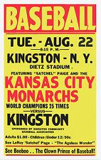 "Negro League Baseball Poster - Kansas City Monarch - 6.5"" x 10"" Photo"