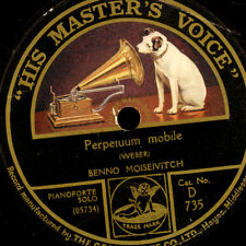 "BENNO MOISEIVITCH -Piano- ""Weber"" Perpetuum mobile / ""Chopin"" Impromptu..  G2444"