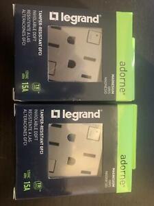 Adorne Legrand Magnesium Tamper-Resistant GFCI