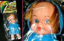 Espléndido hermosas vieja muñeca   Rainy Day Doll vinilo cabeza plástico body Movable 70s