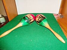 """Vintage set of 11"""" Maracas made in Mexico"""