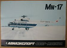 Booklet Heli Copter Copter Mi 17 8 Air Craft Aeroflot Ways Aviaexport Lines Old