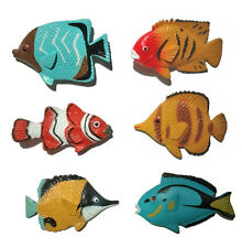 AAA 13832 Tropical Fish Set of 6 Toy Model Clownfish Tang Angelfish - NIP
