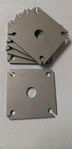 120 x 120 x 6 mm Bodenplatte, Pfostenträger, Fußplatte, Stahl S235 gestrahlt