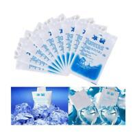 5stk 400ML Gel Eisbeutel ungiftig Kühltasche Kalte Frische Inject Wasser Packs