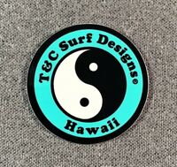 """T&C Town & Country Surf Designs Hawaii Sticker 2"""" SMALL Authentic T&C Teal"""