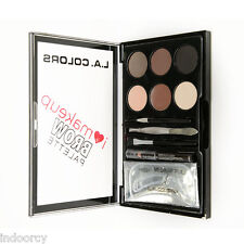L.A. LA Colors I Heart Makeup Brow Palette Eye Brow Kit Medium to Dark Powders