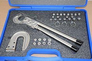 Hand Rivet Squeezer Master Kit 32 piece w/ Dimple Dies, Tubular & Squeezer Sets