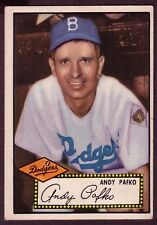 1952 TOPPS ANDY PAFCO CARD NO:1 BLACK BACK VGEX