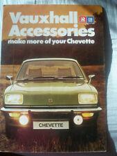 Vauxhall Chevette Accessories brochure Sep 1976