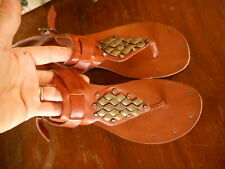 Dolce Vita 8.5 thong sandals Women Flats Light Brown Tan Festival Concert Hippy