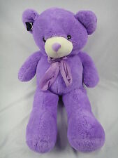 Huge Size/Big /PurpleTeddy Bear With Bow Tie Gift & Soft Toy 200cm UK Stock