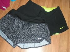 2 Nike  running shorts ~ women ~ small ~  dri-fit ~ with liner