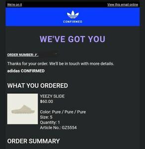 Adidas Yeezy Slide Pure Men's 5/ Women's 6 *Confirmed*