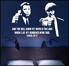 EXTRA LARGE PULP FICTION LORD VENGENCE UPON EZEKIEL 25 17 WALL ART MURAL STICKER