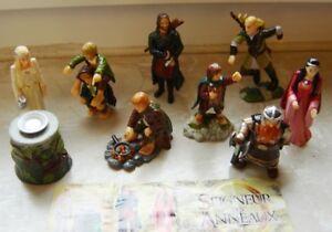 Rare lot série Kinder seigneur des anneaux complète 8 figurines + 1 BPZ