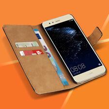 Handyhülle für Huawei P10 Lite Schutzhülle Tasche Echte Leder Flip Case Cover