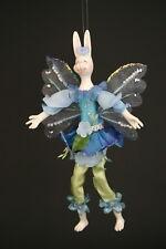 """Easter Whimsical Bunny Magical Bunny Fairy 8"""" Ornament"""