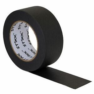 "2"" inch x 60yd STIKK Black Painters Tape 14 Day Easy Removal Trim Edge Finishing"