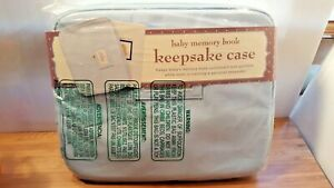 NOS C.R. Gibson Baby Memory Book Keepsake Case BABY BLUE Holds up to 11.5x19x1