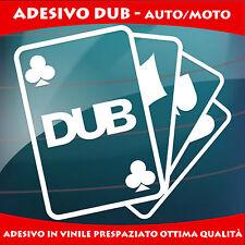 ADESIVI AUTO DUB CARTE POKER - MINI - FIAT 500 - STICKERS