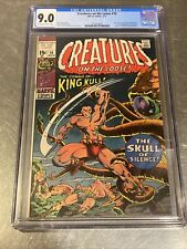 """CREATURES ON THE LOOSE #10  VF/NM 9.0 CGC """"1ST ISSUE; 1ST KING KULL"""" 1973320001"""