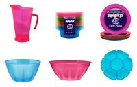 BRIGHTS PLASTICWARE - Neon Party Supplies - Jugs Serving Dishes Utensils