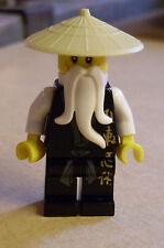 LEGO Ninjago-NINJA-Sensei Wu personaggio NERO BLACK maestro samurai minifig NUOVO