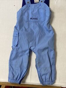 Columbia Toddler Winter Snow Suit Bibs Cobalt Blue Size 3T