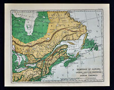 1871 Guyot Physical Map Canada Nova Scotia New Brunswick Quebec Ontario Labrador