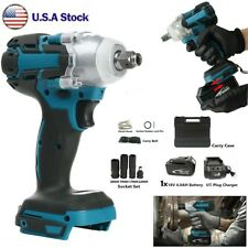Cordless Electric Impact Wrench Rattle Nut Gun 7800 Li Ion Battery 12 With Led