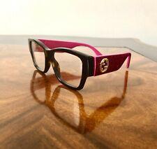 3a8c63f354 Nuevo con etiquetas Gucci Runway Óptico Tortuga Cuadrado Con Brillo Rosa  brazo gafas Rx listo
