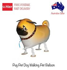 Pug Dog Inflatable Foil Walking Balloon Helium Kids Birthday Party