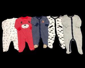 Baby Boy 3 Months 3-6 Months GAP Carter's Cotton Sleeper Pajama Clothes Lot