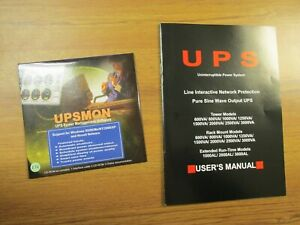 New.. UPSMON UPS Power Management Software CD-ROM Version 2.72 ..  WG-130