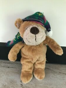 """Animal Alley Toys R Us Plush 10"""" Bear w/ Scarf and Stocking Cap"""