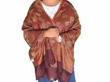 """Brown Geometric Kashmir Wool Shawl Fashion Scarf Evening Dress Wrap Stole 78"""""""