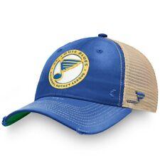 Mens Fanatics Blue St Louis Blues True Classic Washed Trucker Snapback Hat NHL