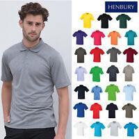 Henbury Coolplus Unisex Knit Collar Polo Shirt H475-Sports Casual Plain T-Shirt