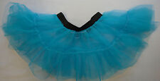 Adults Kids Fancy Dress Tutu Skirt Two Layers Neon Florescent Costume 70s 80s