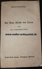 Emanuel Swedenborg Die Neue Kirche des Herrn...anno 1830 Mystik Theosophie