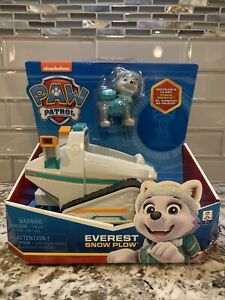 Paw Patrol ~ Everest's Snow Plough Vehicle with Collectible Figure ~ SpinMaster