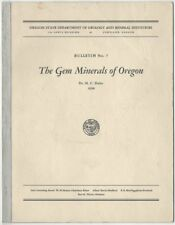1938 Hc Dake Gem Minerals Of Oregon Dept of Geology & Mineral Industries Bull #7