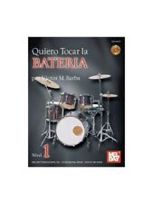 Quiero Tocar La Bateria Learn to Play Present Gift MUSIC BOOK & CD Drums