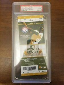 2011 WORLDS SERIES GAME 4 - TEXAS RANGERS ST LOUIS CARDINALS - PSA GRADE 5