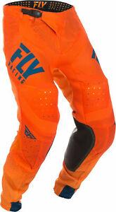 Fly 2019 men's motocross LITE HYDROGEN pants size 36 org/nvy 372-73836