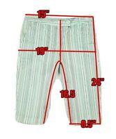 Tommy Bahama 18 Golf Women's 4 multicolored Striped Bermuda Capri Short's Pant