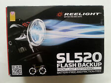 New Reelight SL520 flash backup bike bicycle front light & dynamo no batteries
