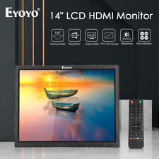 """Eyoyo 14"""" 1024x768 HDMI LCD Monitor VGA BNC AV USB Gaming Display For CCTV DVR"""