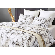 3pcs/set Marble Bedding Set Comforter Cover Pillow Case King Twin Queen Size